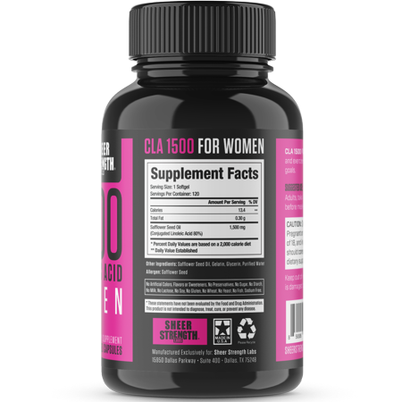 Best Sheer CLA 1500 Conjugated Linoleic Acid For Women - Weight Management, Bodybuilding - 120 Capsules deal