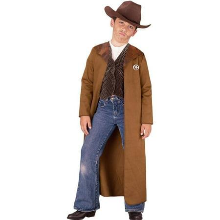 Fun World Old West Sheriff Boys Halloween Kids Costume, Small (4-6)