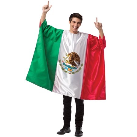 Mexico Flag Tunic Adult Costume - Disfraz Halloween Mexico