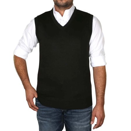 True Rock Men's Argyle V-Neck Sweater - Free Knitting Pattern Men Vest