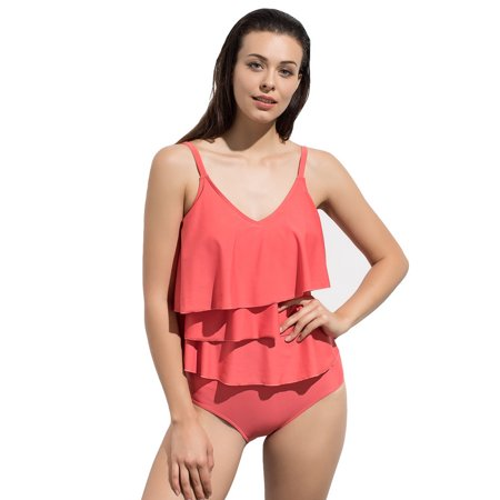 Women Sexy Bikini Set Shirred High Waist Swimming Bottom Bathing Suit Swimwear