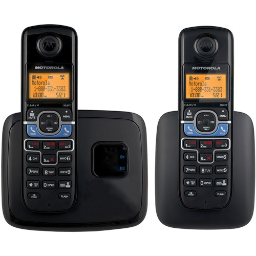 Motorola L702BT DECT 6.0 Cordless Phone System with 2 Handsets, Digital Answering System and Mobile Bluetooth Linking