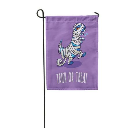 KDAGR Autumn Trick Treat Halloween Dinosaur in Mummy Costume Baby Garden Flag Decorative Flag House Banner 12x18 inch](Halloween Mummy Treats)