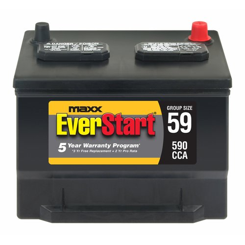 Everstart Maxx Lead Acid Automotive Battery Groups Size 59