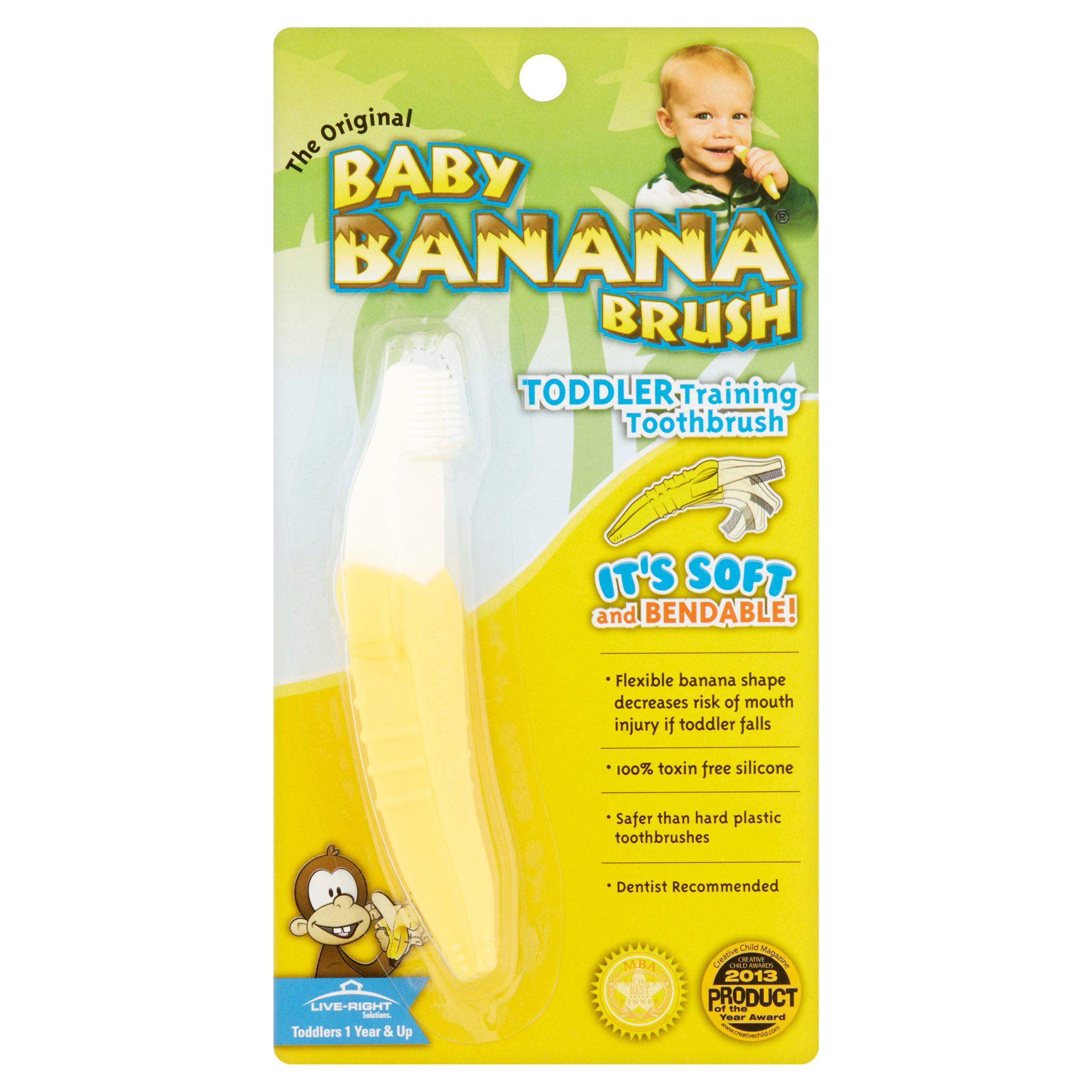 Genuine Baby Banana Soft Bendable Toddler Training Teething Toothbrush Teether