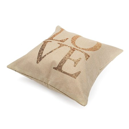Meigar Vintage Love Heart Throw Pillow Cushion Cover 18''x18'' Cotton Linen PillowCase Standard Decorative Pillowslip Pillow Protector Cover Case for Sofa Couch Chair Car Seat - image 3 of 4