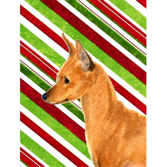 Carolines Treasures SS4535CHF 28 x 40 In. Min Pin Candy Cane Holiday Christmas Flag Canvas, House Size - image 1 of 1