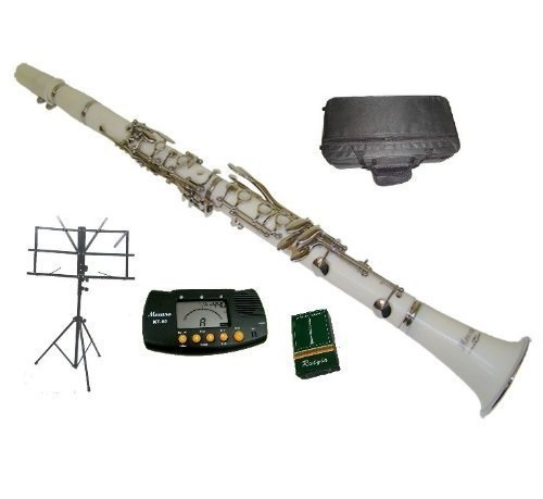 Silver Trumpet with Case+Mouth Piece+Valve Oil+Metro Tuner+Black Music Stand Merano B Flat Blue