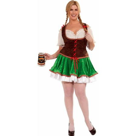 Beer Garden Girl Plus Size Costume - Beer Garden Girl