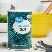 (4 Pack) Great Value Iodized Salt, 26 oz