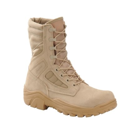 "Corcoran CV4100 Mens 8"" HotWeather Broad Toe Combat DesertTan Boots -MADE IN USA"