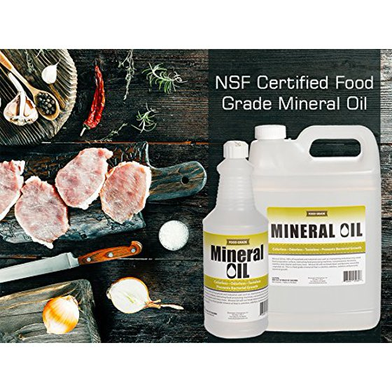 100% Pure Food Grade Mineral Oil USP, 1 Gallon, NSF Approved, Butcher Block  and Cutting Board Oil