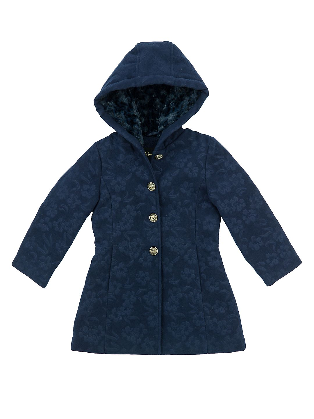 Little Girl's Embossed Faux Fur Jacket