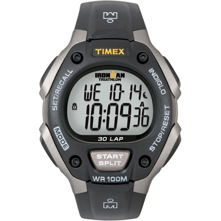 Men's Ironman Classic 30 Full-Size Watch, Black Resin Strap ()