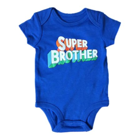 Carters Infant Boys Super Brother Baby Outfit Blue Superhero Bodysuit Romper - Superhero Bodysuit