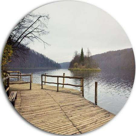Design Art 'Plitvice Lakes Wooden Bridge' Photographic Print on