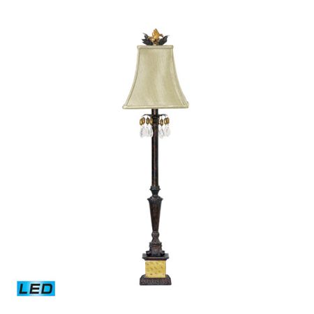 Table Lamps 1 Light With Black / Era Gold Composite Metal Acrylic Medium Base 37 inch 13.5