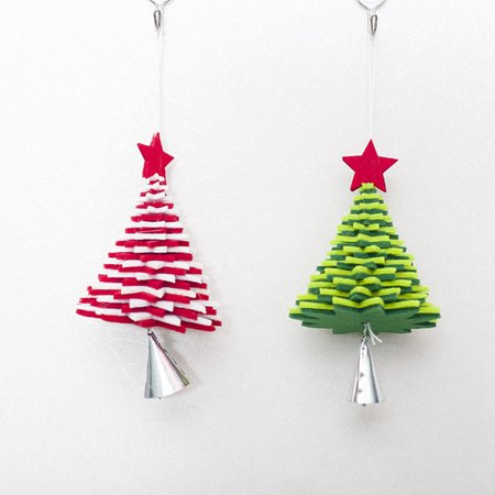 babydream1 Christmas Flannel Door Hanging Decor Star Xmas Tree Bell Metal Pendant Ceiling Decorations - image 4 of 9