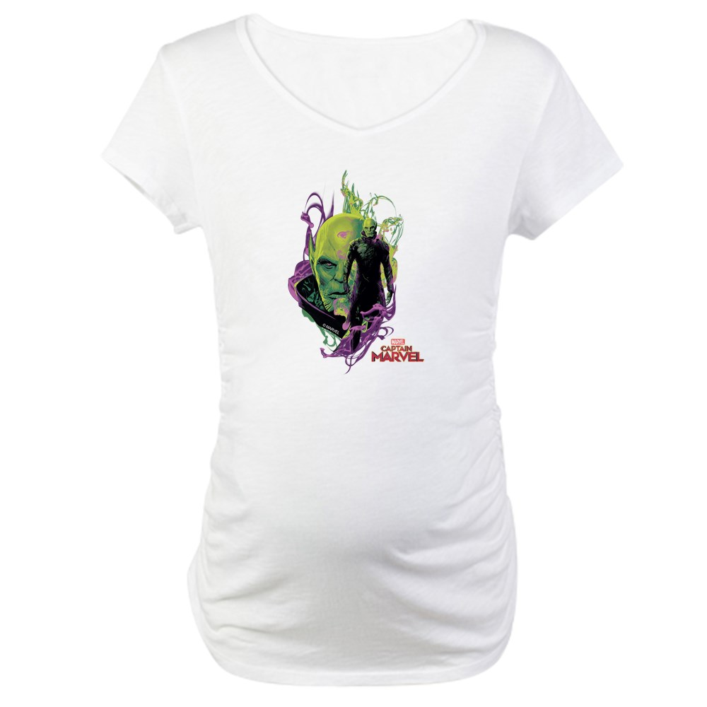 CafePress - Captain Marvel Talos Skrull Le Maternity T Shirt - Cotton Maternity T-shirt, Cute & Funny Pregnancy Tee