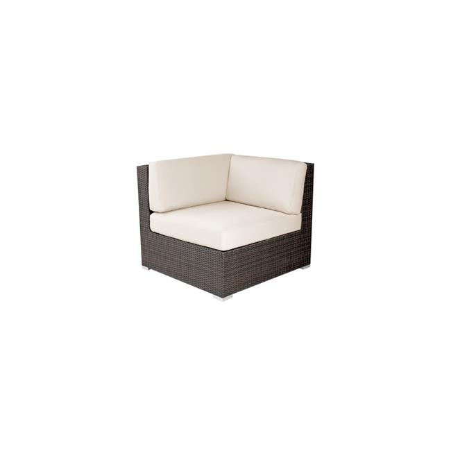 Source Outdoor SO-2004-151-ESP Manhattan Square Shaped Corner Chair in Espresso by Source Outdoor
