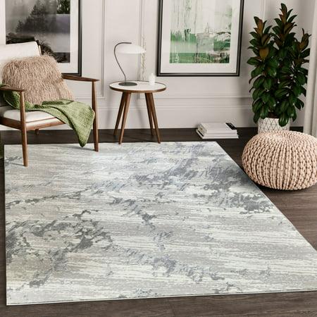 Abstract Marble - Abani Nova Nov130A Grey Beige Marble Textured Abstract Area Rug