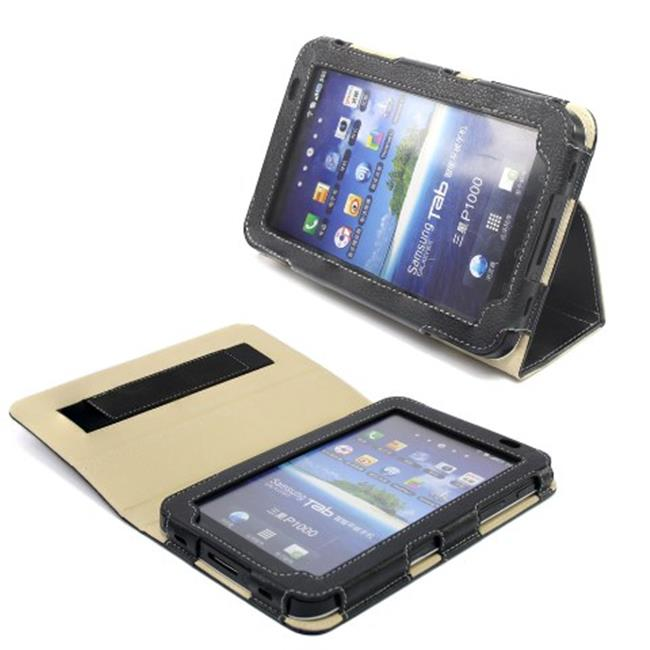 Snugg B004R0RQ8S Galaxy Tab 7. 0 Case Cover and Flip Stand, Black Leather