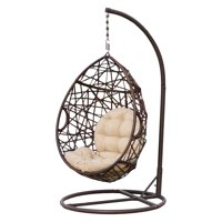 Stamford Wicker Tear Drop Hanging Basket Chair with Stand