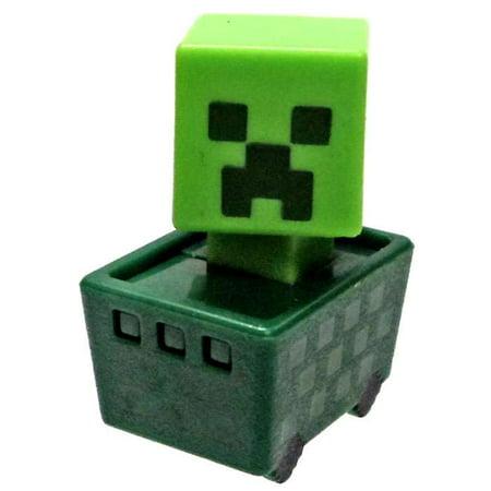 Minecraft Minecart Creeper in Cart Mini Figure
