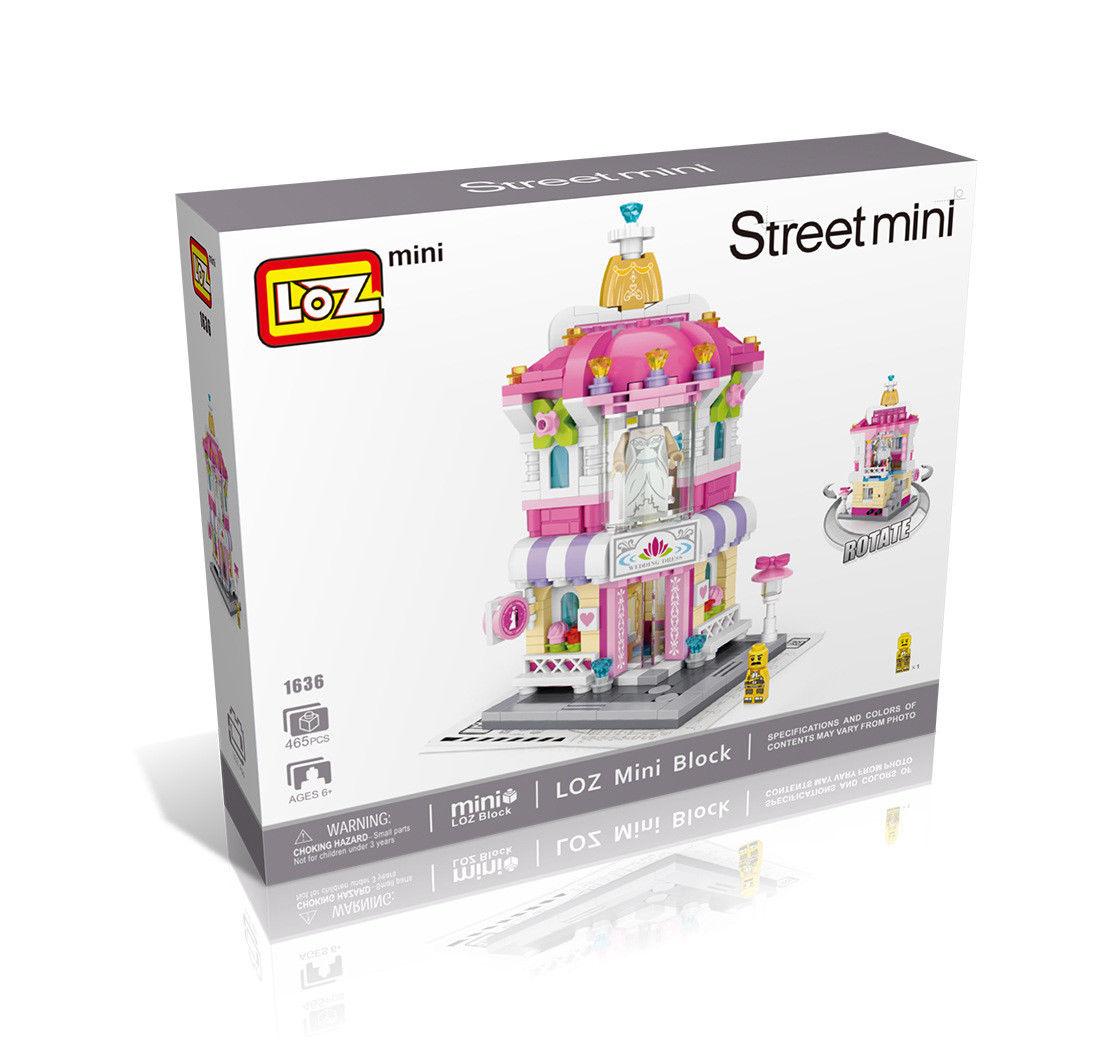 LOZ Street Mini Wedding Dress Shop Kids Puzzle Mini Block Brick Toy w//Box
