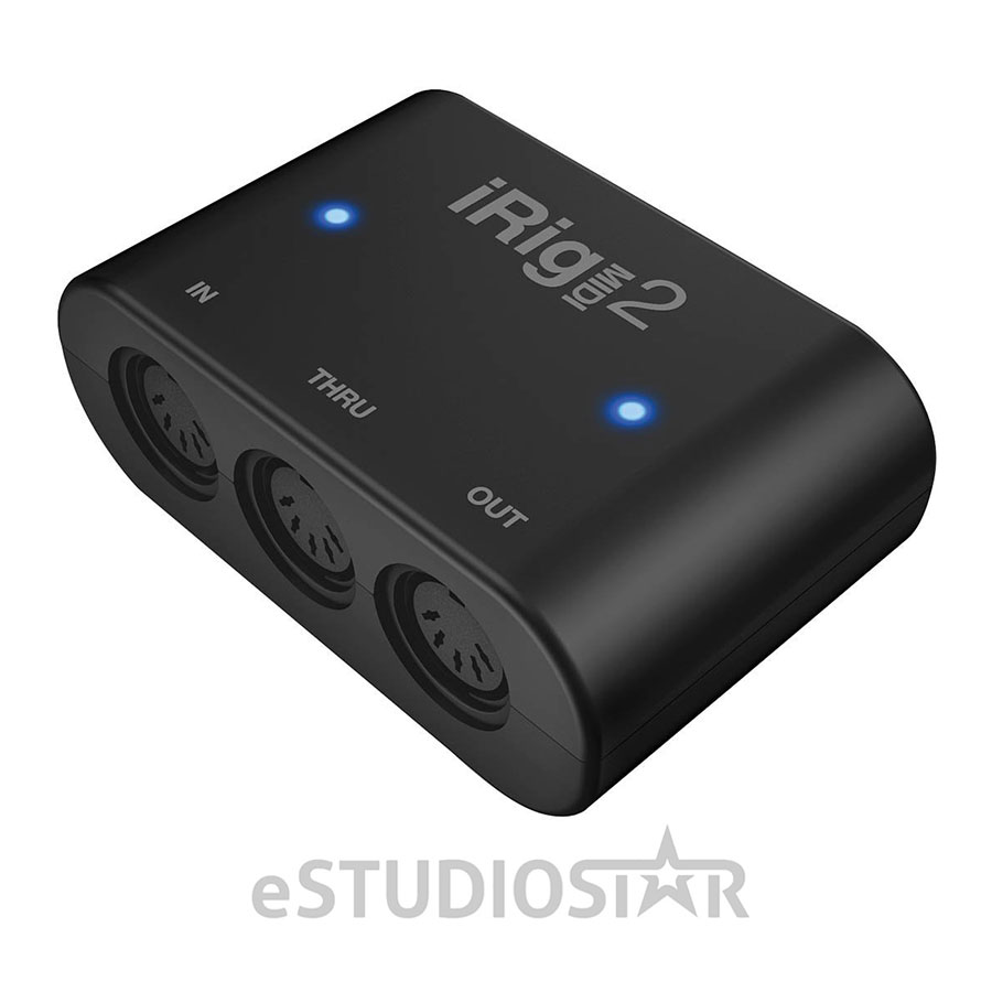 IK Multimedia IPIRIGMIDI2 iRig MIDI 2 Portable MIDI Interface for iOS, Mac, and PC