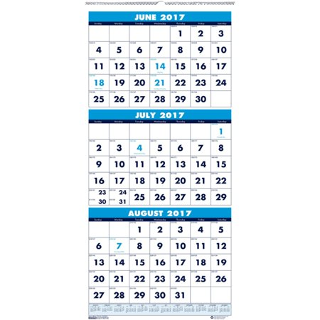 house of doolittle three month horizontal wall calendar julian monthly 12 year