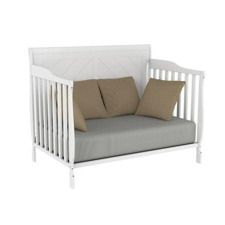 Convertible baby crib 4 in 1 - Lauren - White - image 2 of 9