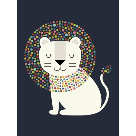 As a Lion Graphic Animal Nursery Childrens Kids Room Artwork Print Wall Art By Andy Westface