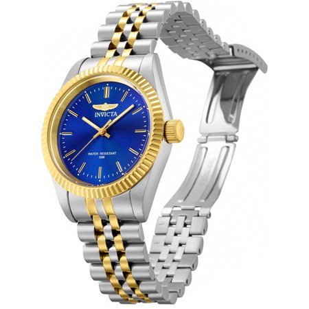 Invicta Women's Specialty Quartz Blue Dial Two Tone Stainless Steel Watch 29403 ()