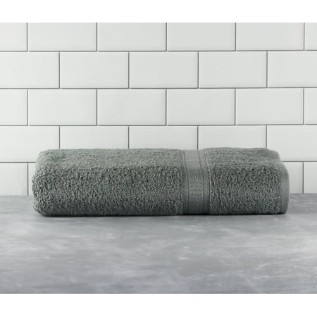 Mainstays Basic Bath Collection - Single Bath Towel, Solid Grey