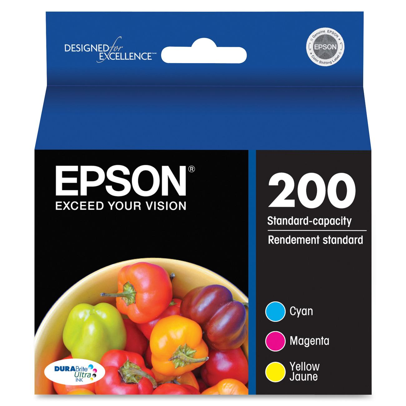 Epson 200 DURABrite Original Color Multi-Pack Ink Cartridge