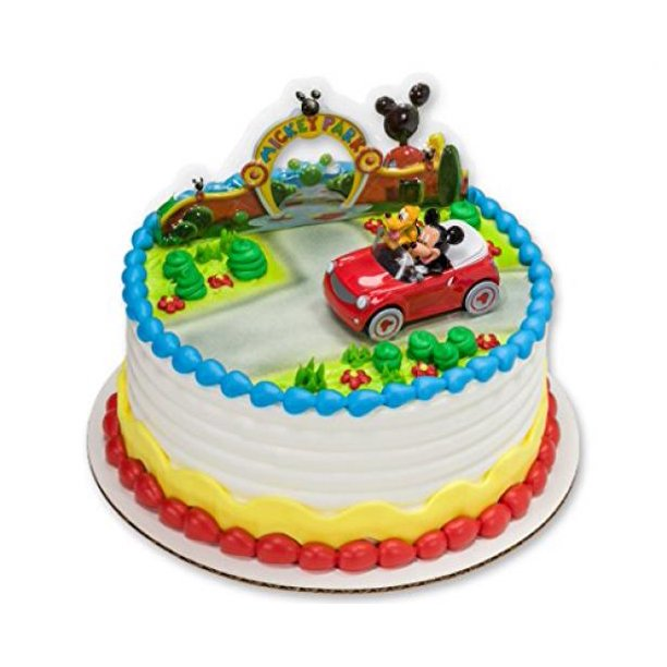 Phenomenal Mickey Mouse And Pluto Car Decoset Cake Decoration Walmart Com Funny Birthday Cards Online Elaedamsfinfo