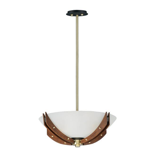 Maxim 39511CLBZAP Merge 4-Light Semi-Flush Mount & Pendant Ceiling Light, Bronze & Antique Pecan - image 1 de 1