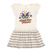 Mardi Gras Princess with Mask and Stars Toddler Dress