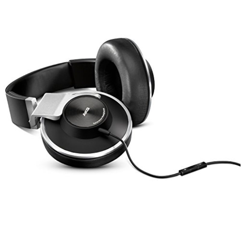 AKG K551WHT Closed-Back Reference-Class Headset with In-Line Microphone and Passive Noise Reduction, White