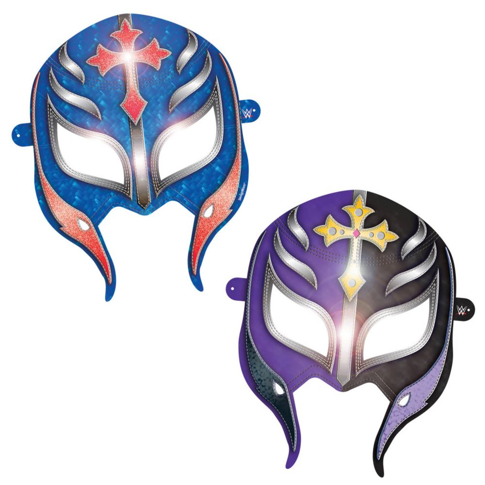 "WWE Paper 6"" Party Masks (8 Pack) - Party Supplies"
