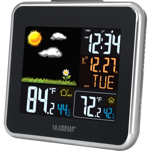 La Crosse Technology Wireless Atomic Color Weather Station with USB Charging by La Crosse Technology
