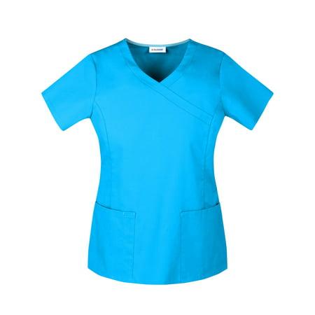 10eb96d48c9 ... Scrubstar Women's Premium Collection Stretch Mock Wrap Scrub Top