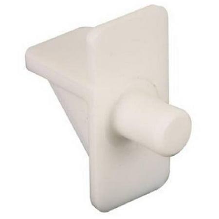 242400 White Plastic Shelf Support Peg, Pack - 12