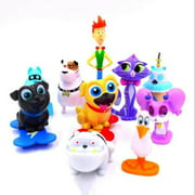 Set of 12 PCs Figure for Puppy Pal Dog Birthday Party, Gift, and Decoration - Bingo ARF Rolly Hissy
