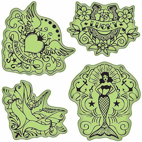 Inkadinkado Stamping Gear-Vintage Tattoos