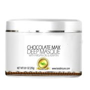 Keratin Cure Chocolate Max Deep Hair Mask Masque Moisturizing Reparation Shea Butter Argan Oil Strengthen Boosts Growth Smooths Frizz Scalp Treatment for all types 8 oz