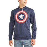 4773fbfd Product Image Captain America Men's Long Sleeve Pullover Hood T-Shirt
