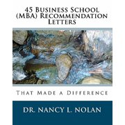 45 Business School (MBA) Recommendation Letters : That Made a Difference