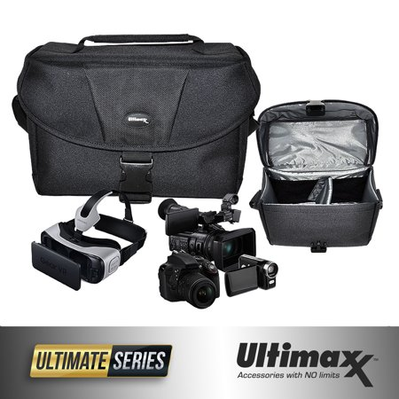 ULTIMAXX Padded SLR Gadget Bag for SLR Cameras - Large (Large Slr Camera Case)
